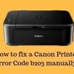 Canon Error Code B203